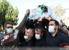 تشییع پیکر شهید مدافع حرم «محمد اینانلو» در کرج