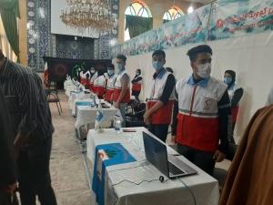 راه اندازی اولین مرکز تجمیعی واکسیناسیون هلال احمر البرز