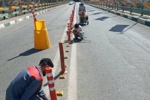 نصب علائم ترافیکی در «خط ۴ حصار» و «بیلقان»