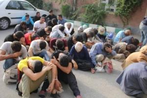 جمع آوری ۱۲۵ معتاد متجاهر از سطح شهر کرج