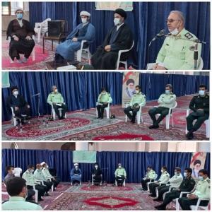 جمعی از پرسنل نیروی انتظامی با امام جمعه شهرستان نظرآباد دیدار کردند