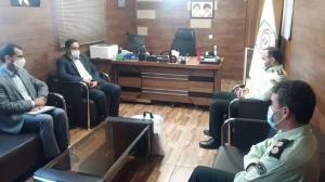 دیدار مدیرکل فرهنگ و ارشاد اسلامی استان البرز با رئیس پلیس فتای استان