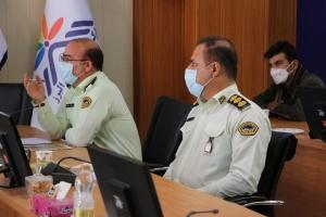 بازدیدرئیس دفتر تحقیقات کاربردی نیروی انتظامی استان البرز از پارک علم و فناوری البرز