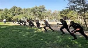 برگزاری مسابقات ورزشی سربازان وظیفه به مناسبت هفته نیروی انتظامی در ندامتگاه فردیس