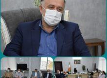 دیدار فرماندار شهرستان ساوجبلاغ با مدیرکل بیمه سلامت استان البرز
